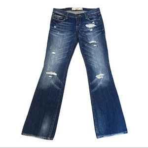 Abercrombie & Fitch Low Rise Distressed Bootcut 25